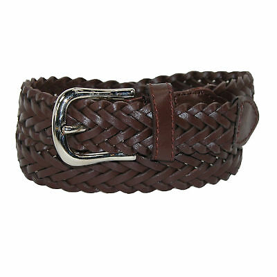 New CTM Boys' Leather Braided Dress Belt (Pack of 2)