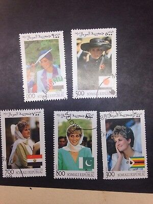Somali Republic Princess Diana Stamps