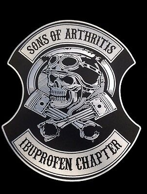 Biker Patch Ibruprofen Chapter 30 cm