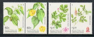 STAMPS  AUSTRALIA CHRISTMAS ISLAND 2013 FLOWERING SHRUBS  2 X PAIRS (MNH) lotA98
