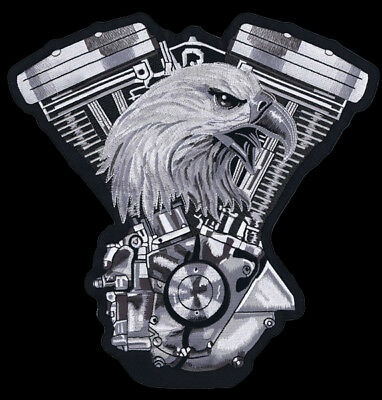 Eagle and Engine Biker patch 30 cm