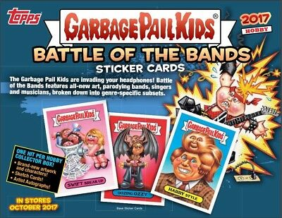 2017 Topps Garbage Pail Kids GPK Battle Of Bands Hobby Box (24 Packs)(Sealed)
