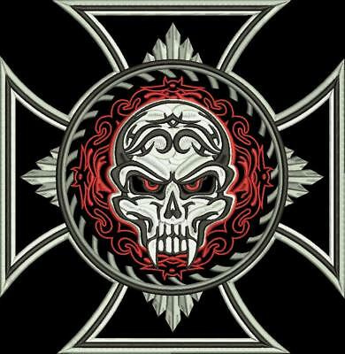 The Devils Cross 30 cm Biker patch