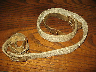 Russian Soviet USSR white field expedient sling leather end smg carbine m44 ppsh