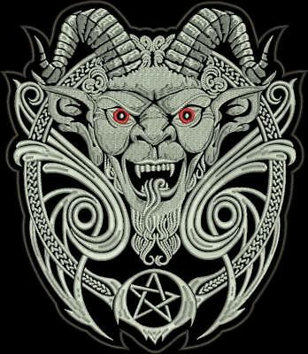 The Devils pentagram Biker patch 30 cm