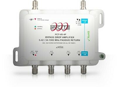 PCT International 4-Port Drop Bypass Amplifier with Passive Return (PCT-VB-4P)