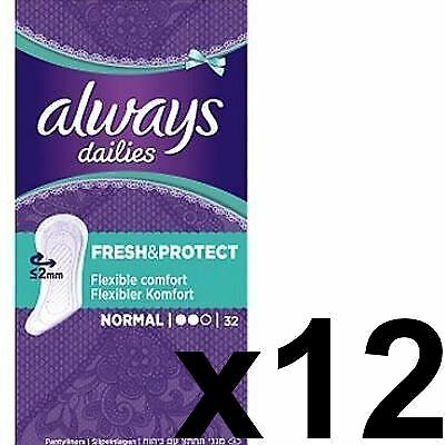 Always Dailies Panty Liners Normal Fresh & Protect Odour Neutralising - 384 Pack