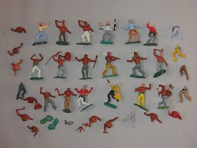 Swoppet Timpo type Plastic Cowboy & Indian Figures (A)