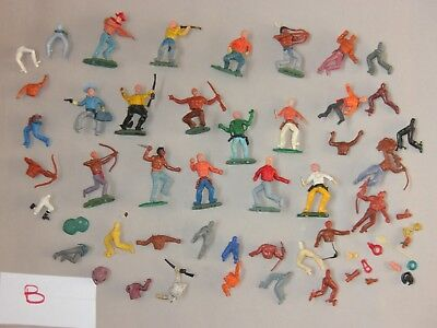 Swoppet Timpo type Plastic Cowboy & Indian Figures (B)