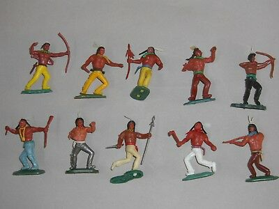 Swoppet Timpo type Plastic Indian Figures x 10