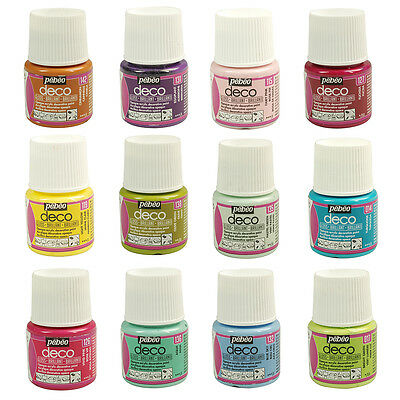 Pebeo Deco GLOSS Multi-Surface Craft & DIY Acrylic Paint 45ml 39 Colours