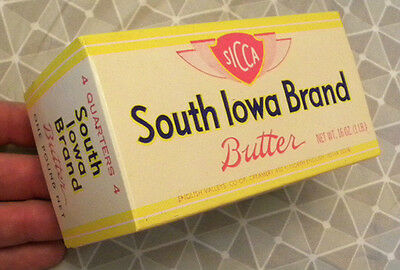 Vintage South Iowa Brand Butter Box,North English IA,Co-op Creamery, Cream, Milk