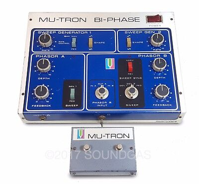 MUSITRONICS MU-TRON BI-PHASE With Original Double Footswitch 240v *inc VAT*