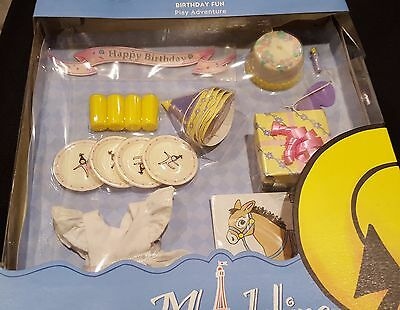 New Madeline Doll 8 Birthday Fun Hat Plates Cups Dress Cake Present Game B-day