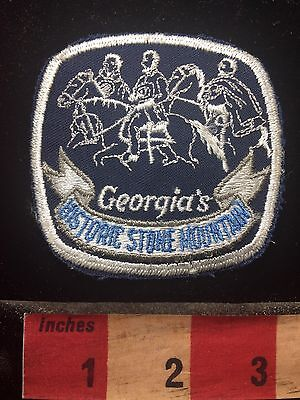Vtg State Of Georgia Patch HISTORIC STONE MOUNTIAN PARK - Version 1 C75H