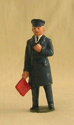 Train Guard w/red flag, Signalman, platform layout figure, Reproduction Johillco