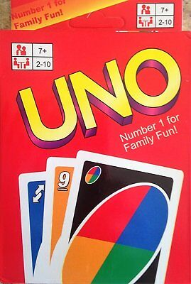 Uno Card Game 108 Playing Cards Family Children Friends Fun UK Standard