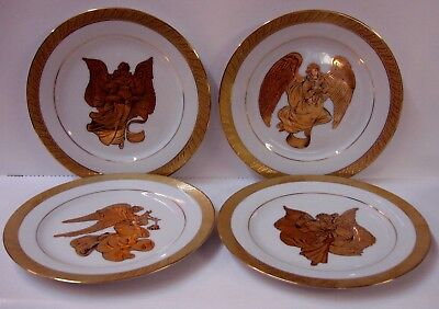 Centurion Collection PURE GOLD Luncheon Accent Plate CHOICE ANGEL SCENE