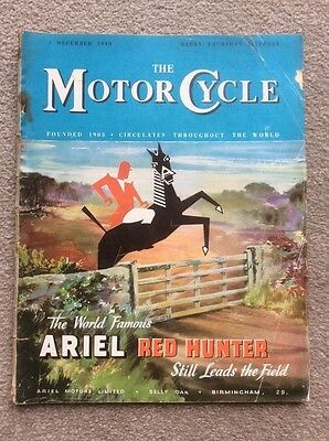 The Motorcycle magazine, december 1949