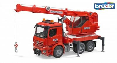 Bruder 03670 MB Arocs Kran-LKW mit Light & Sound Module