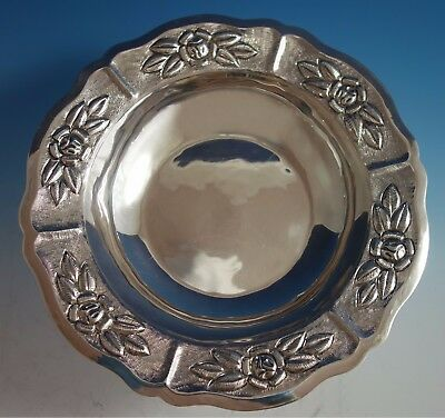Aztec Rose by Maciel Mexican Mexico Sterling Silver Fruit Bowl #6522/5 (#1783)