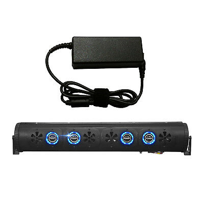 "Bazooka 24"" Bluetooth Party Bar Sound Bar w/ LED Lights, 7 Amp AC to DC Adaptor"