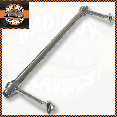 Polished Stainless Steel Chrome Classic Car Bumper Badge Bar