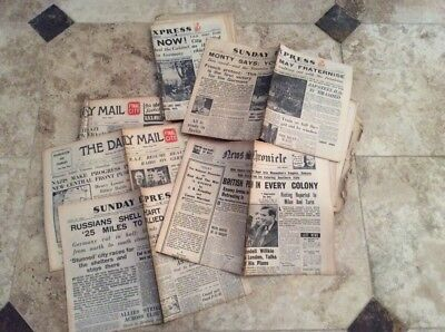 Original Birthday Newspaper Most Dates From 1940 -To 1945  + Lucky Penny