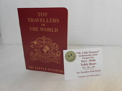 Teddy Bear Doll Soft Animal Toy UK Passport Toy or Gift for Travelling Children