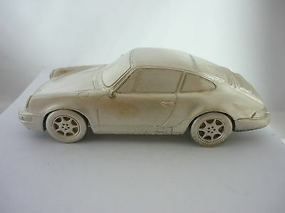 Stunning Very Rare Vintage Large Sterling Silver Porsche 911 Carrera Model