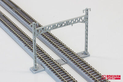 """Rokuhan S021+S022 Overhead Mast and Beam 10 pcs. each """"NOCH"""" 1/220 Z-scale"""