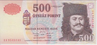 Hungary Banknote P179  500 Forint 1998, Unc