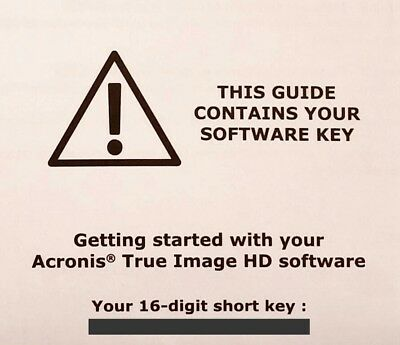 Acronis True Image HD 2017 Backup Cloning Software Activation License Key