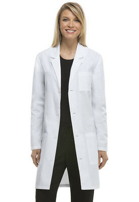 Infinity Lab Coat Scrubs by Dickies Unisex Antimicrobial 83402A White NWT