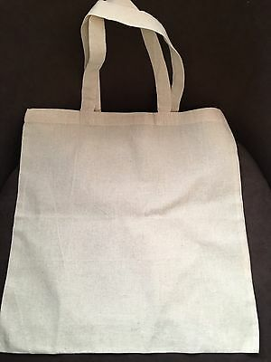 Canvas Cotton Calico Tote Bag Bnib Ideal For Crafting