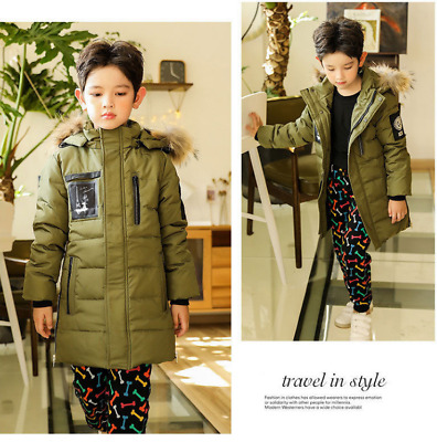 NEW BOYS Winter JACKET Duck Down COAT HOODED Boy Padded Quilted AGE 4-12 g5