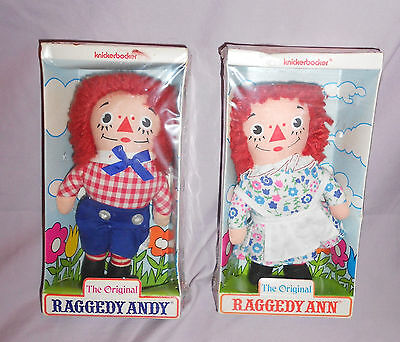 Vintage Raggedy Ann & Andy - 6 Inches Tall - New In Boxes - Knickerbocker
