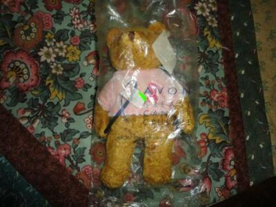 AVON Canada Breast Cancer Crusade BEAR MINT in Bag Velvet Shirt