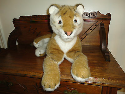 Vintage Merrythought UK TIGER 1970's Laying Large 28 inch Airbrushed Details