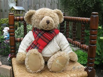 """Harrods Large Foot Dated 13"""" Christmas Bear 2002 Giles"""