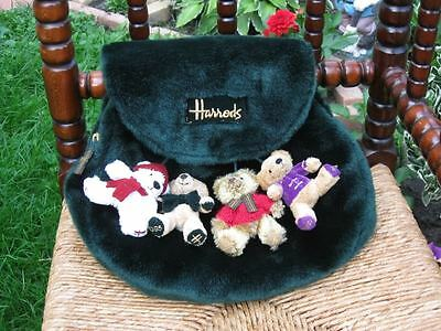 Harrods Collectible Backpack with 4 Christmas Bears