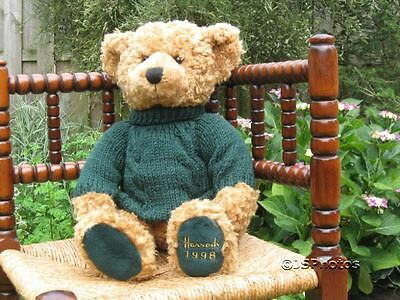 Harrods UK Large Foot Dated 13 Inch Christmas Bear 1998