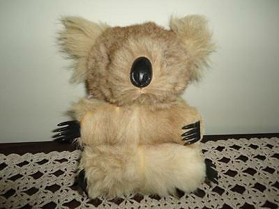 Vintage Real Fur Australian KOALA Rubber Claws & Nose