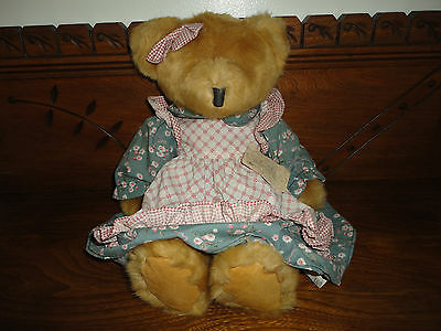 Russ Berrie Mulberry Girl Bears From Past 14 inch  All Tags Retired New