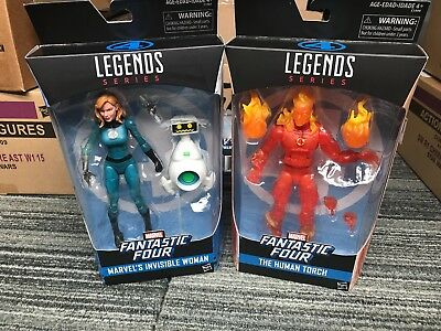 marvel legends human torch and invisible woman walgreens exclusives