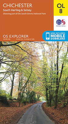 CHICHESTER, SOUTH HARTING & SELSEY Map - OL 8 - OS - Ordnance Survey - *NEW*