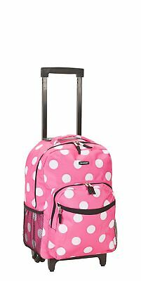 Backpack With Wheels For Girls Pink Rolling School Bag Travel Luggage Wheeled 17
