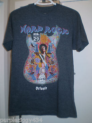 Jimi Hendrix Sig.Series 29 T Shirt ~ Hard Rock Cafe Orlando ~ Size M ~ Grey