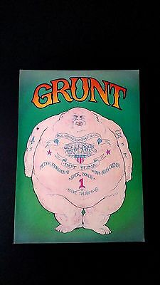 Grunt Records.jefferson Airplane. Hot Tuna. Rare Original Print Promo Poster Ad