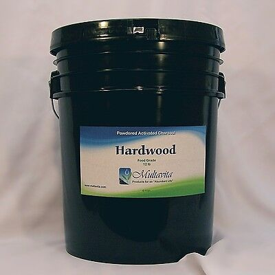 12 lb Hardwood Activated Charcoal Powder Premium Fine Food Grade Bulk Carbon